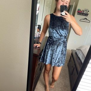 Topshop Velvet Mini Dress